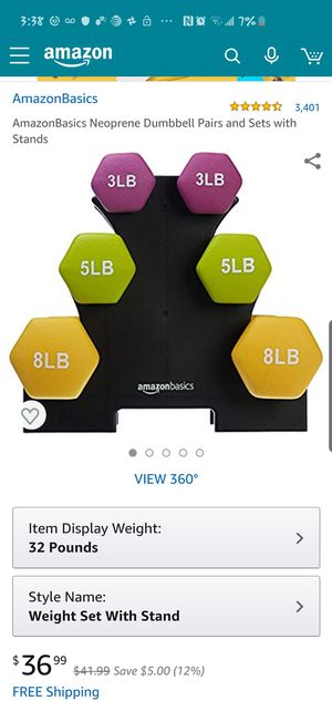 Dumbbell Pairs/ Excersize for Sale in Oakland, CA