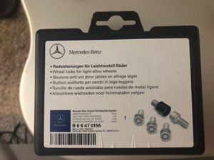MERCEDES wheel locks for light-alloy wheels for Sale in Thousand Oaks, CA