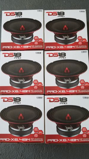 Ds18 Pro audio Loud Voice Speakers !!!$30 Each (1)/Bocinas de puerta se escuchan bien fuerte $30 Cada una (1) son de 600 watts for Sale in Houston, TX
