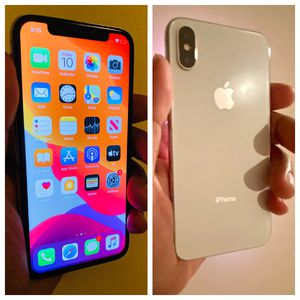 iPhone X ( Silver ,256Gb ) AT&T locked ( No Face ID) for Sale in Brooklyn, NY