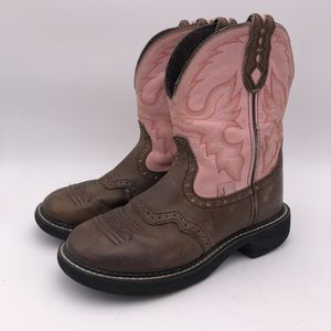 Justin Gypsy Boots Women's Size 6 Pink/Brown Leather for Sale in Waxahachie, TX