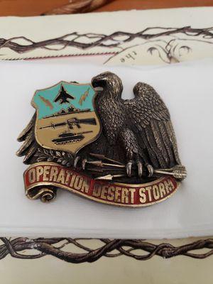 Operation desert storm belt buckle for Sale in Seekonk, MA