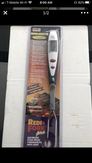 Maverick Redi Fork Pro BBQ Grilling Thermometer w/Light for Sale in Phoenix, AZ