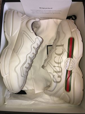 Men's Rhyton Gucci logo leather sneaker Sz. 10.5 for Sale in Grand Prairie, TX