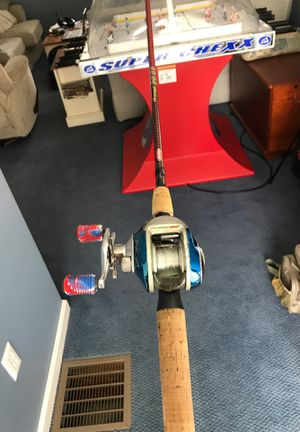 Fishing baitcaster rod and reel for Sale in Hudson, MA