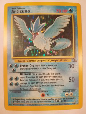 *SHIP ONLY* Slightly Played (SP) Articuno Holofoil #2/62 Fossil Pokemon TCG Trading Card WOTC Holographic Hologram Holo Foil for Sale in Phoenix, AZ