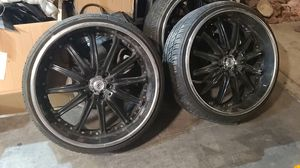 """24 """" rims dropstar luxury brand new tires set of 4 for Sale in Las Vegas, NV"""