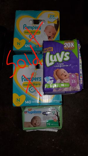 TONS OF UNOPENED DIAPERS FROM BABY SHOWER! BABY NO LONGER FITS! CHECK DETAILS FOR PRICING for Sale in Paramount, CA