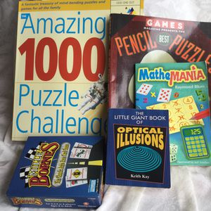 Puzzle challenge books & game (Lot of 5) for Sale in Cape Coral, FL
