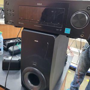 RCA AUDIO RECEIVER & SURROUND SOUND SYSTEM for Sale in West Jordan, UT