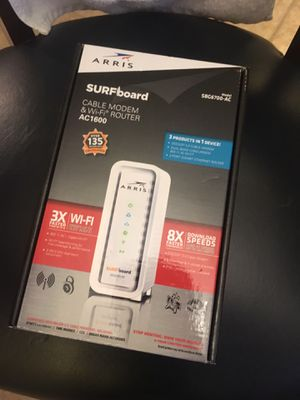 New Arris Surfboard Cable Modem WiFi Router AC1600 for Sale in Dallas, TX