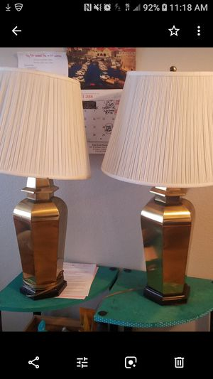Gold Lamps with shades for Sale in Spring Valley, CA