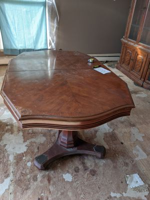 Dining table with eight chairs, two leafs for Sale in North Webster, IN