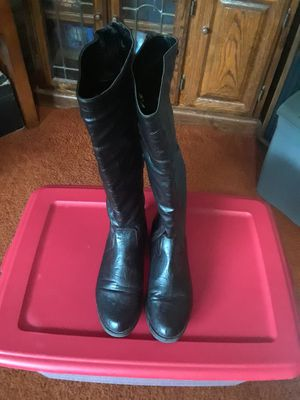 Black Leather Dawgs Boots Size 9 1/2 Asking 25. for Sale in Princeton, TX