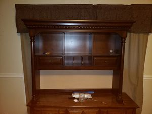 Nice desk top with drawers and plug in inside and underneath lighting for Sale in Morgantown, WV