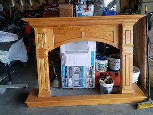 $250 custom oak mantel for Sale in Lake Hallie, WI