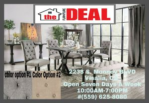 7-PC Table W/6 Chairs or Choice of Dining Bench for Sale in Visalia, CA