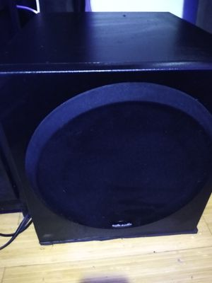 "10"" Polk audio powered sub and 5 surround speakers for Sale in Portland, OR"