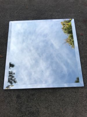 "13 8 x 8"" square beveled mirror tiles. Decorative reflective pieces for table top wall any number of uses excellent condition for Sale in Upland, CA"