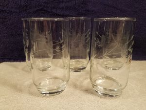 5x Princess house - etched crystal - ice tea glasses - collectable vintage glass for Sale in Las Vegas, NV