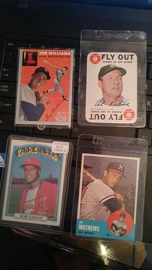 Vintage baseball cards Ed Matthews, alkaline, Ted Williams, Bob Gibson make offer for Sale in Balfour, ND