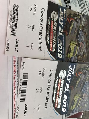 London Race Tickets for Sale in Windham, ME