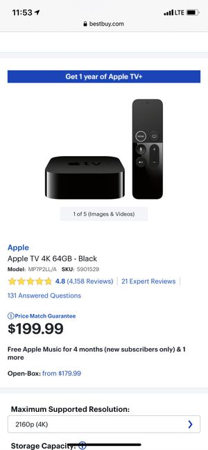 Apple TV 64gb brand new unopened box for Sale in Seattle, WA