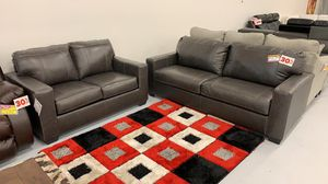 Real leather sofa love seat $1099 for Sale in Norfolk, VA