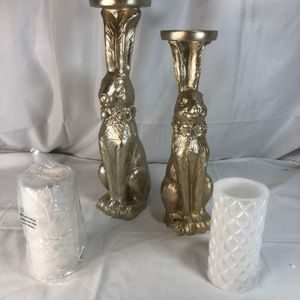 S/2 Bunny Pillars with Flameless Candles for Sale in Fort Lauderdale, FL