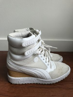 Puma x Mihara Yasuhiro Women's White Mesh Wedge Sneakers in Size 7.5 for Sale in Portland, OR
