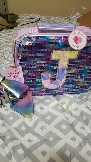 "Justice set new! ""J"" jojo siwa bow and lunchbox set for Sale in Sahuarita, AZ"