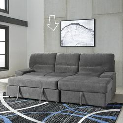 💕Yantis Gray Sleeper Sectional with Storage💕🏆39 DOWN 🏆 for Sale in Fort Worth,  TX