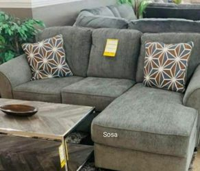 ♦️New Brand ☑️Brise Slate Sofa Chaise 🌩️▶️ for Sale in Beltsville,  MD