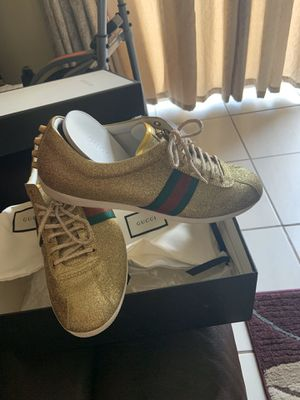 Gucci authentic gold shoes for Sale in Davenport, FL