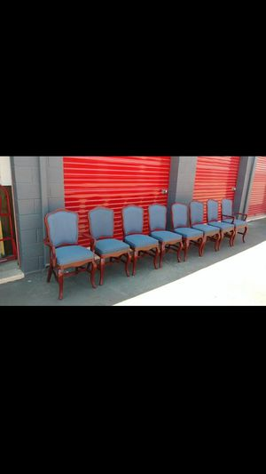 Red wood padded chairs for Sale in Chandler, AZ