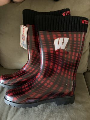 Red Plaid Rain Boots Size M for Sale in Santa Ana, CA
