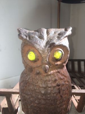 Antique cast iron owl andirons with grate for Sale in Painesville, OH