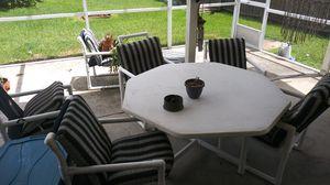 Pvc patio furniture, life time warranty. for Sale in Orlando, FL
