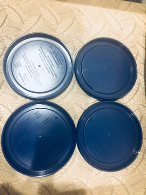 4 Pyrex Blue 2 Cup round storage cover for Sale in Woburn, MA