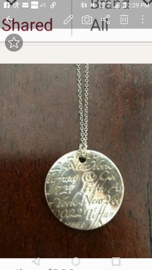 Authentic Tiffany and Company signature necklace for Sale in Cumberland, IN