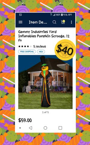 Want a Pumpkin Scrooge? for Sale in Escondido, CA