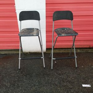 2 Bar Height Chairs for Sale in Bellevue, WA