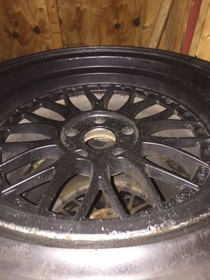 Black bbs five lungs rims with brand new tires for Sale in Fitchburg, MA