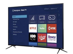"""Westinghouse 50"""" 4K Ultra HD Roku Smart TV with HDR for Sale in Hayward, CA"""