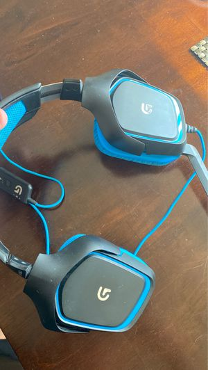 Gaming headset - Logitech G430 + USB adapter for Sale in Murrieta, CA