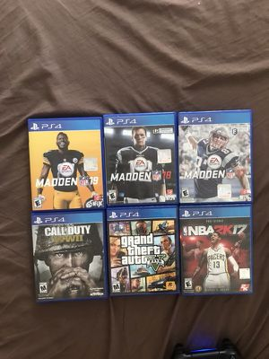 6 Video Games . Great conditions. Will add Ps4 for extra $200. Price is negotiable for Sale in Pittsburgh, PA