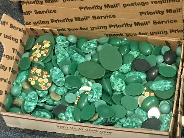 Cabochons - mutiple boxes assorted colors and sizes