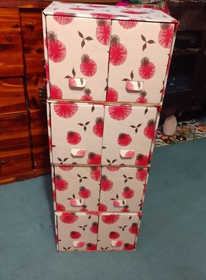 Pretty corrugated drawers dresser four pieces for Sale in Rockledge, FL