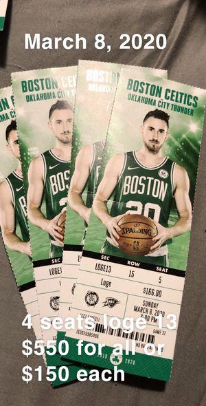 Celtics vs OKC for Sale in Boston, MA