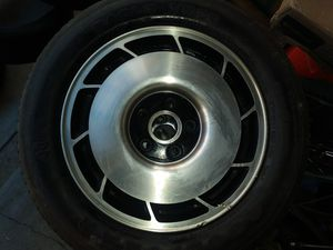 Goodyear eagle vr50 tire size p255/50/vr16 plus black and chrome rim for Sale in Costa Mesa, CA